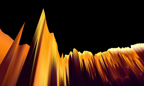 A digital artwork with a topographical, mountainous appearance