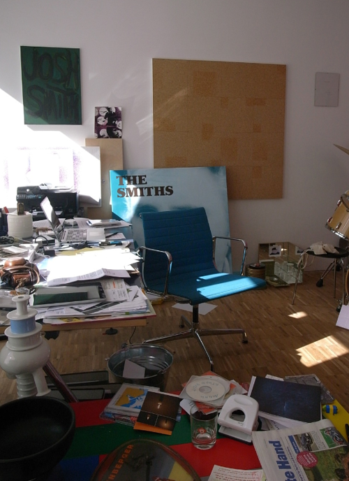A photo of Jonthon Monk's art studio by the artist