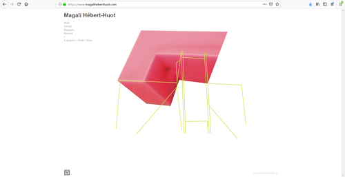 The front page of Magali Hebert-Huot's art website