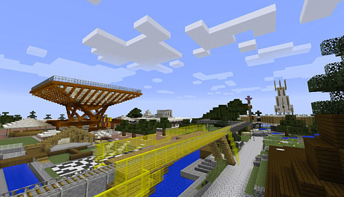A Minecraft reconstruction of Expo 86