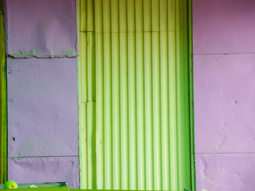 A photo of a brightly painted side of a building