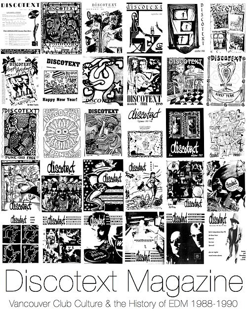 The cover of a book of collected articles from Discotext Magazine