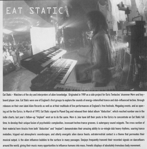 A scanned page from a magazine write up about a techno producer