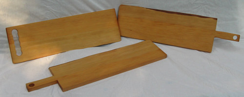 A set of three fir charcuterie boards