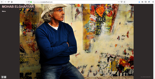 A screen capture of Mohab Elghaffar's art website
