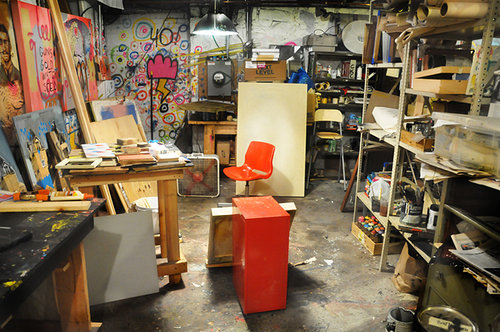 New York artist Abel Macias' studio space.