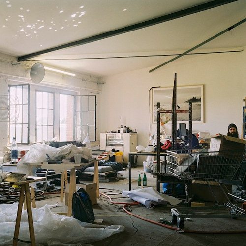 A photo of Julius Von Bismarck's Berlin art studio