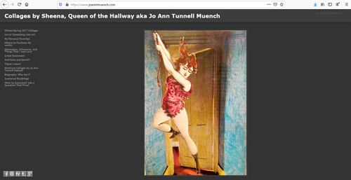 The front page of Jo Ann Tunnell Muench's art website