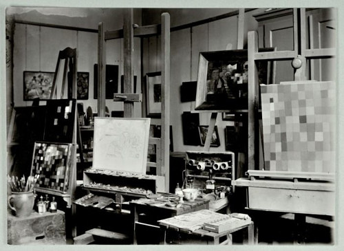 A photo of Paul Klee's studio in Germany