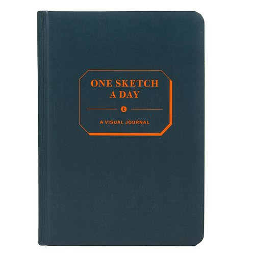 sketchbook that says 'one sketch a day'