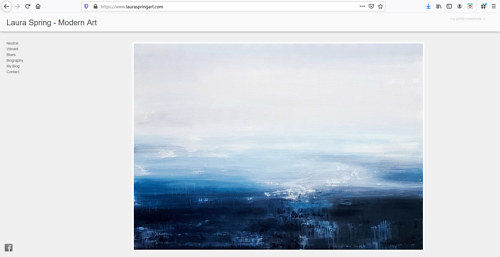 A screen capture of Laura Spring's painting website