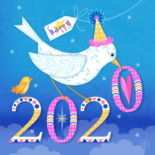 An illustration for New Year's 2020