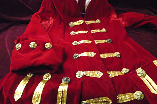 A pirate coat with hand-cast gold buttons