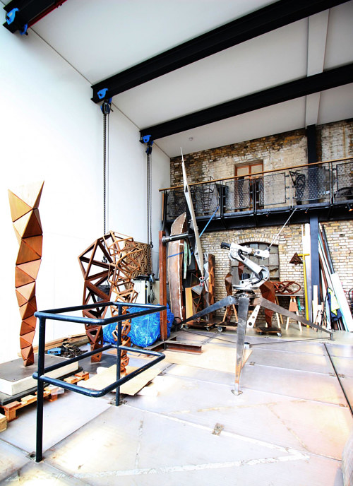 A photo of Conrad Shawcross' art studio