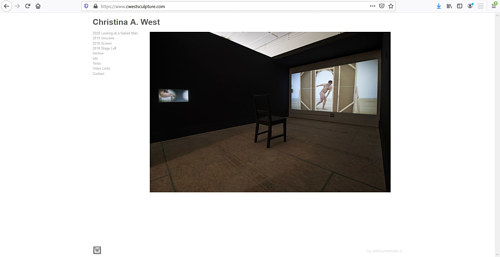 A screen capture of Christina A. West's art portfolio