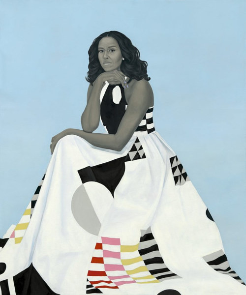 f6f8be7d Others surmise that Michelle Obama picked it out and it was sent to Sherald  as reference material.