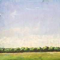 Oil painting Spring Field-SOLD by Sarah Trundle