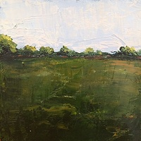 Oil painting Bucolic -SOLD by Sarah Trundle