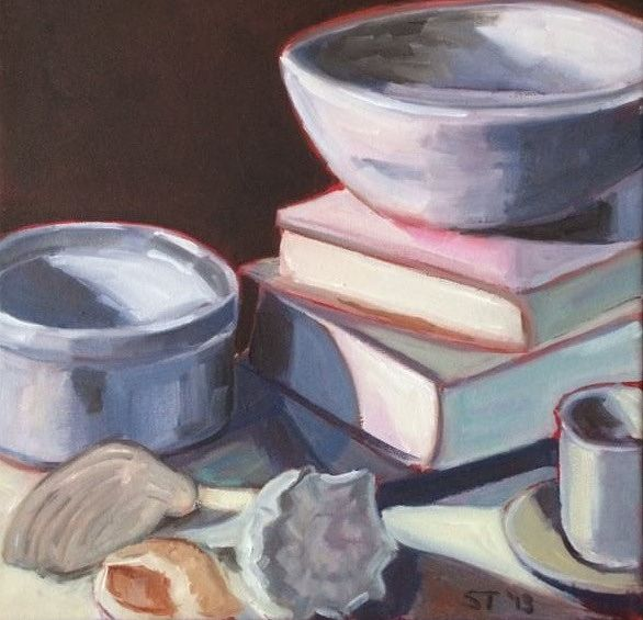 Oil painting Still Life with Shells- SOLD by Sarah Trundle