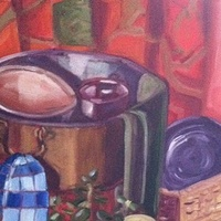 Oil painting Copper Pot- SOLD by Sarah Trundle