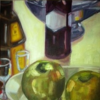 Oil painting Apples with Frangelico  by Sarah Trundle