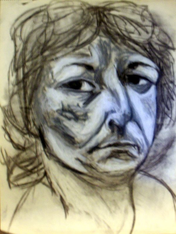 Self-Portrait - Morose by Lynne Stewart