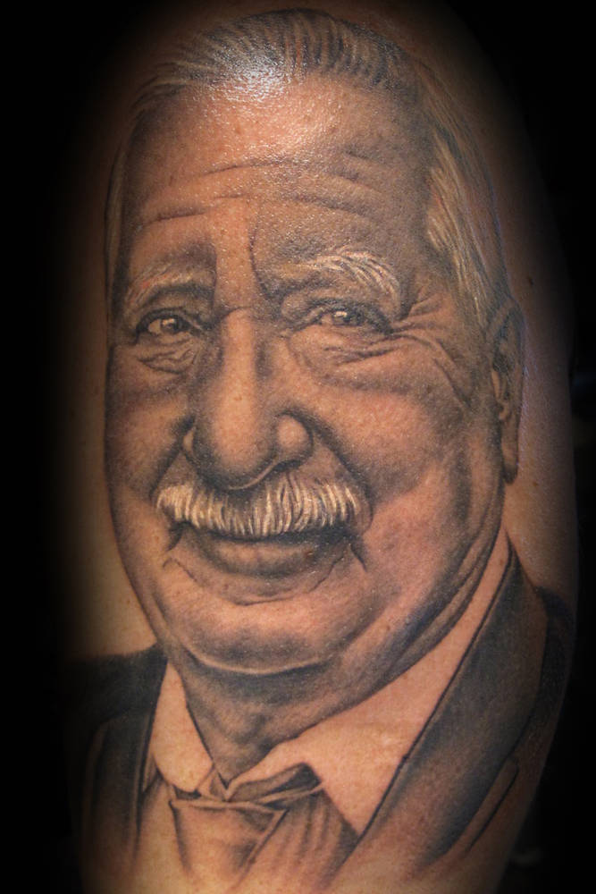 Cara's Dad Portrait Tattoo Kelowna B.C. by Erin  Burge