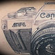 Canon Camera Tattoo Kelowna B.C. by Erin  Burge