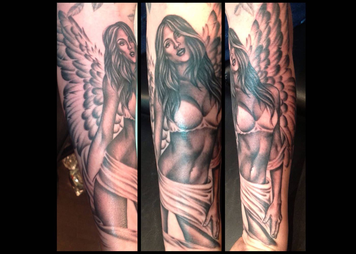 Angel Pin Up Tattoo Kelowna B.C. - Sweet Siren Tattoo in Kelowna B.C.
