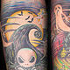 Nightmare Before Xmas Tattoo Kelowna B.C. by Erin  Burge
