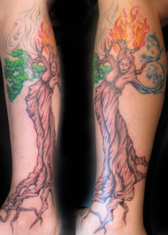Elements Tree Tattoo Kelowna B.C. by Erin  Burge