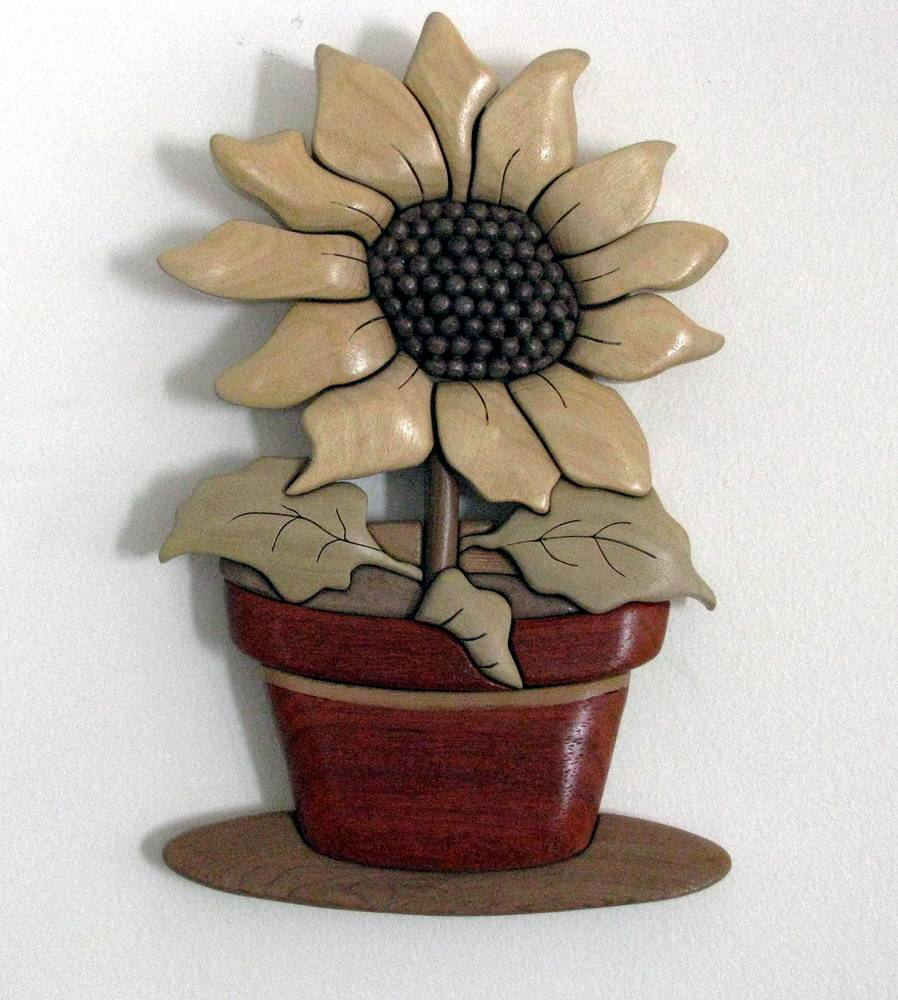 Sunflower in Pot by Vicki Allesia