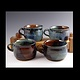 Soup Mugs, blue series  by Elaine Clapper