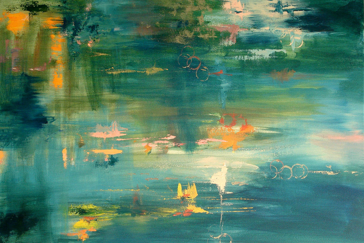 "Acrylic painting On the Bayou - Acrylic on canvas - 24""x30"" by Jeanne Kollee"