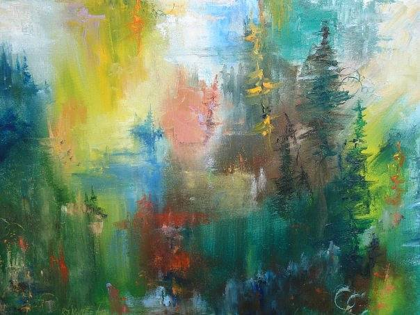 "Oil painting Greenwood - Oil on canvas - 24""x30"" by Jeanne Kollee"