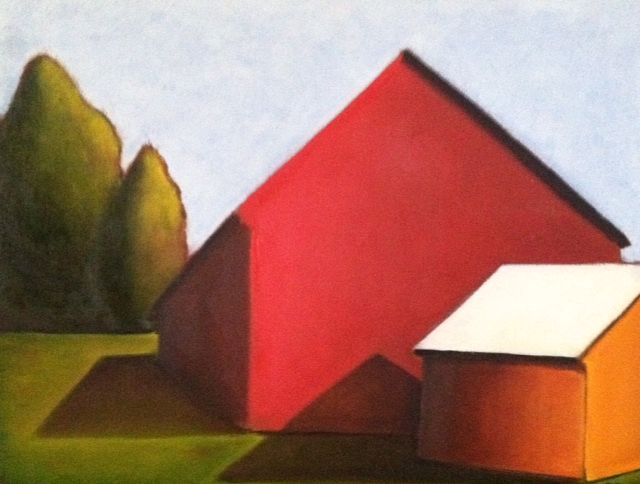 Oil painting Lancaster Barn- SOLD by Sarah Trundle