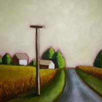 Oil painting Country Road II-SOLD by Sarah Trundle