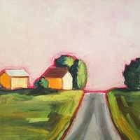 Oil painting Country Road Study-SOLD by Sarah Trundle