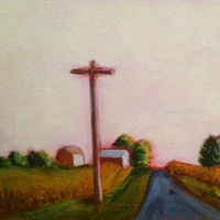 Oil painting Country Road- SOLD by Sarah Trundle