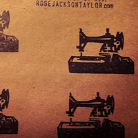 Sewing Machines - one of my favourite stamps. by ROSE WILLIAMS