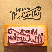 Miss McCarthy Rubber Stamp by ROSE WILLIAMS