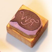 Monogrammed Speech Bubble Stamp - Available on Etsy by ROSE WILLIAMS