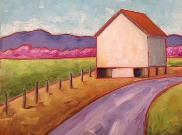 Oil painting Cowpasture River Road- SOLD by Sarah Trundle
