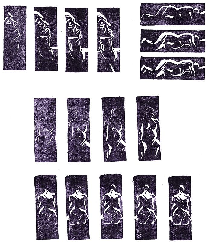Life Drawing Rubber Stamps by ROSE WILLIAMS