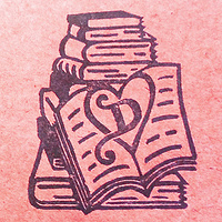 Book-Themed Wedding Stamp for making invitations :-) by ROSE WILLIAMS