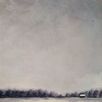 Oil painting Snowy Field- SOLD by Sarah Trundle