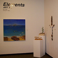 Real Wall Art Gallery...Elements ART X 2 by Corliss R Wall