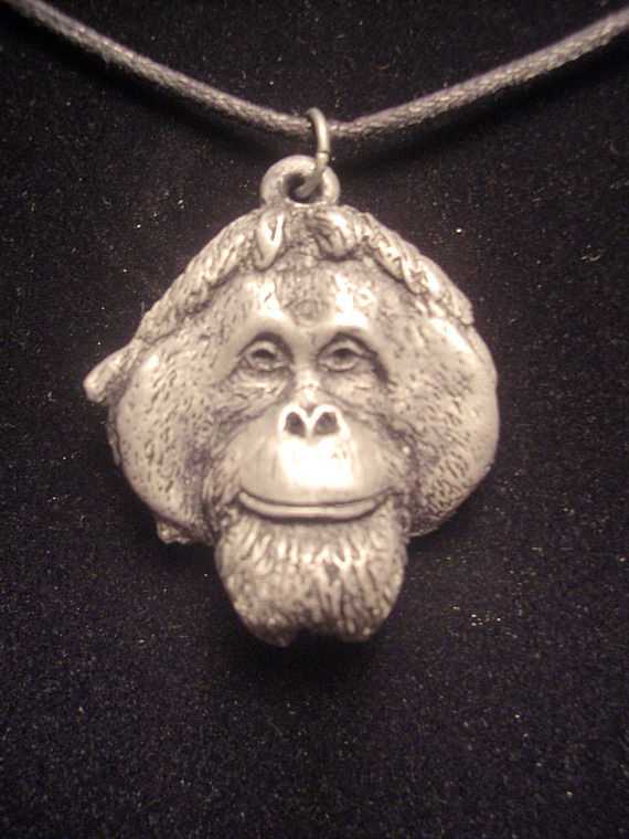 Orangutan pendant (cold cast pewter) by Jason  Shanaman