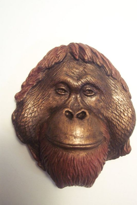 Sculpture Orangutan wall hanging (Nick) by Jason  Shanaman