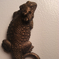 Bearded Dragon magnet or wall hanging (bronze finish) by Jason  Shanaman